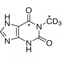 1-METHYLXANTHINE (CHEMICAL PURITY 97%) (1-METHYL,6-13C2, 99%; 1-METHYL-D3, 98%)  --  1 MG