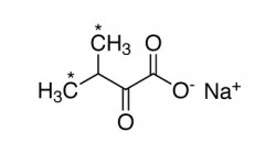 ALPHA-KETOISOVALERIC ACID, SODIUM SALT (DIMETHYL-13C2, 99%)  --  0.5 G